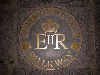 Commonwealth Heads of Government Meeting 2015 - Floor plaque commemorating the walkway of the Commonwealth in front of Auberge de Provence