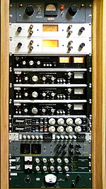 Sound reinforcement system wikipedia a rack of electronic audio compressors fandeluxe Images