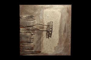 Ferruccio Bortoluzzi - Composizione n. 80, 1963, wood, iron, 100x100cm