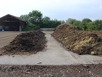 Compost - A community-level composting plant in a rural area in Germany