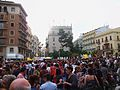 Concentració per les línies en valencià, 9 de juny, plaça de la Mare de Déu, València.JPG