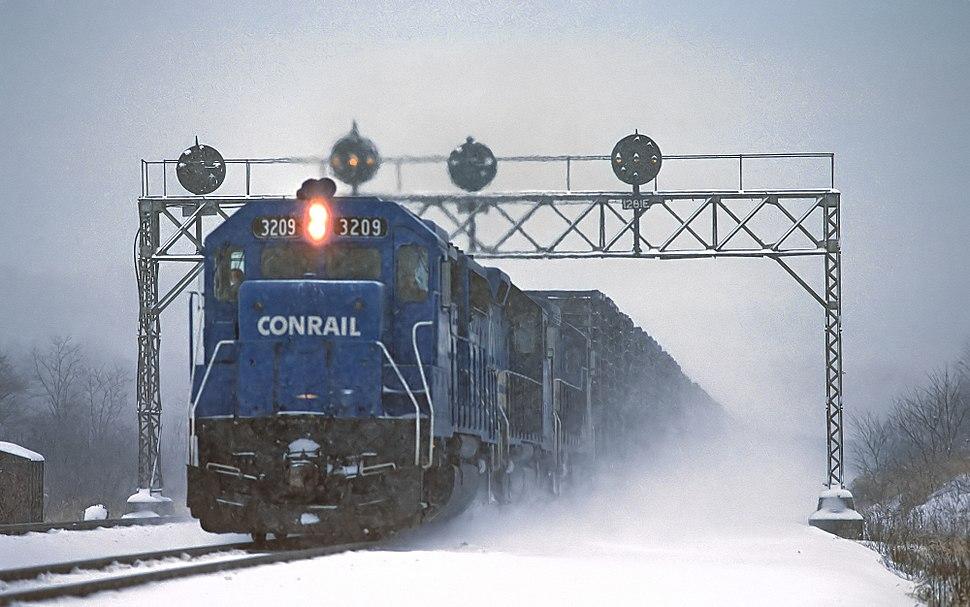 Conrail GP40 3209 at Ducannon, PA (25175006459)