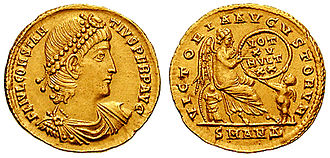 Constantius II - Constantius II coin, celebrating the 15th year of his reign.
