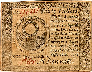 Continental Currency $30 banknote obverse (September 26, 1778).jpg