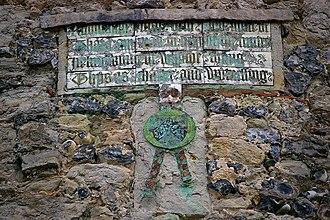 Cooling Castle - Inscription on Cooling Castle's gatehouse