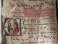 Corali del duomo di grosseto, maestro di sant'angelo in bigiano, iniziale istoriata E con adorazione dei magi, 1285-90 circa.JPG