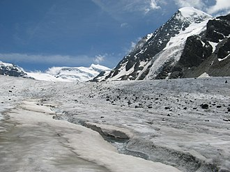Corbassière Glacier - View from the glacier towards the Grand Combin