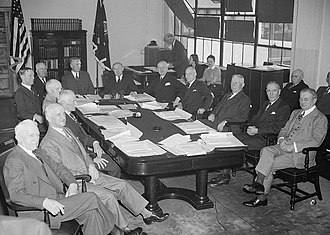 Corps area - Corps area commanding generals meet with the Chief of Staff and Secretary of War in Washington, D.C., 1 Dec. 1939.