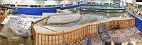 Corps reviews final Isabella Lake Dam model (15065935059).jpg