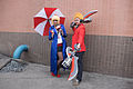Cosplayers of RGN News Forecast Janna and Draven, League of Legends in CWT39 20150228a.jpg