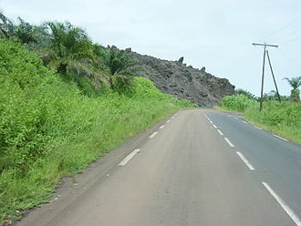 Mount Cameroon - Image: Coulee Mont cameroun