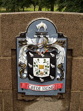 County Borough of Rochdale - The coat of arms of the former Rochdale County Borough Council.