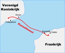 spoorverbinding tussen frankrijk en engeland