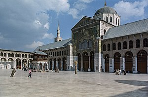 Islam in Syria - The Umayyad Mosque in Damascus.