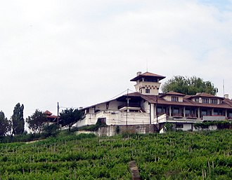 "Boldești-Scăeni - The ""Crama Seciu"" restaurant in Boldești-Scăeni, surrounded by vineyards"