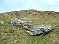 Crash debris from Wellington bomber R1465 - geograph.org.uk - 401227.jpg