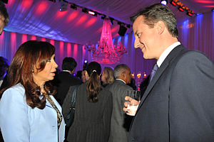 Cristina Fern%C3%A1ndez with British PM David Cameron