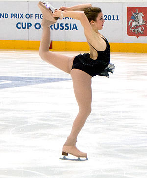 Biellmann spin - Image: Cup of Russia 2010 Ashley Wagner (spin)