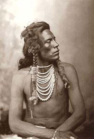 Crow scouts - Curly, by David F. Barry, circa 1876.