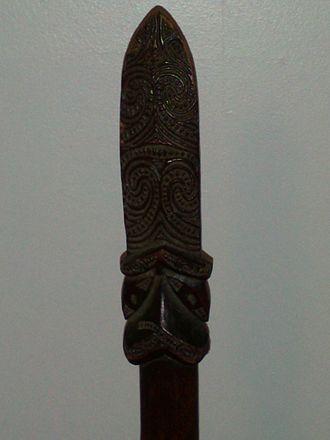 Taiaha - Arero 's detail