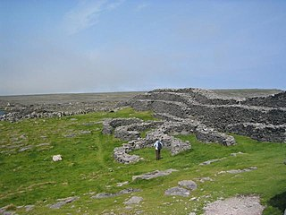 Dún Dúchathair stone fort in County Galway, Ireland