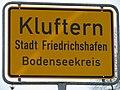 D-BW-Friedrichshafen-Kluftern - Ortscchild 001.JPG
