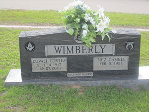 D. C. Wimberly - D. C. Wimberly grave