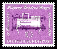 DBP 1956 228 Wolfgang Amadeus Mozart