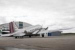 Dakota Norway DC-3 at Flesland Fjordsteam 2018 (131829).jpg