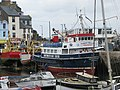 Dartmouth 'Day Cruise' boat being cleaned in Brixham harbour - geograph.org.uk - 1295541.jpg