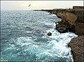Daryabozorg- rock coast of Chabahar دریابزرگ، ساحل صخرهای چابهار - panoramio.jpg