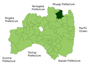 Location of Date in Fukushima Prefecture