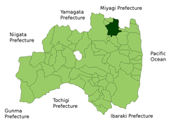 Location of Date in Fukushima