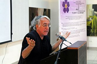 David Barsamian - David Barsamian giving a lecture called 'The Twilight of Capitalism' at a ZOMTalks event in Lebanon hosted by ARF's Zavarian Student Association on February 23, 2016.