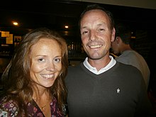 David Higgins, professional golfer, with his wife, Elizabeth Condon. Butler Arms Hotel.JPG