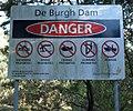 De Burgh Dam Sign 12102017.jpg