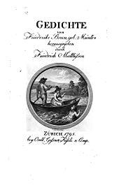 Titelblatt der Gedichte (Quelle: Wikimedia)