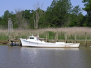 Chesapeake Bay deadrise - Image: Deadrise workboat capt colby broadside