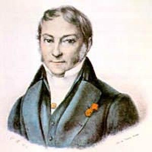 Jean-Baptiste Debret - Self portrait of Jean-Baptiste Debret inVoyage pittoresque et historique au Brésil (1834)