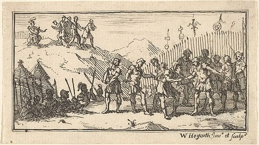 Decimation by William Hogarth (Beaver's Roman Military Punishments, Chapter 4, 1725)