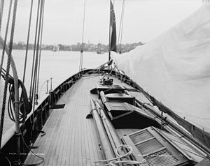 Galatea (yacht) - Galatea afterdeck