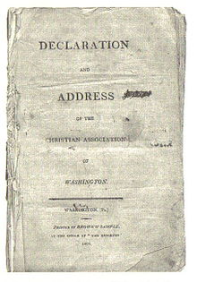 Declaration and Address Christian Assoc of Washington (Cover) 1809.jpg