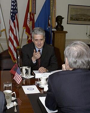 Pandeli Majko - Image: Defense.gov News Photo 050202 D 2987S 008