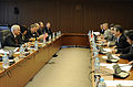 Defense.gov News Photo 110113-F-6655M-009 - Secretary of Defense Robert M. Gates talks with Japanese Defense Minister Kitazawa Toshimi at the Ministry of Defense in Tokyo Japan on Jan. 13.jpg