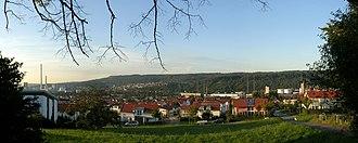 Deizisau - View from hillside on Deizisau