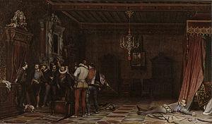 The Illness of Antiochus - The Assassination of the Duke of Guise par Paul Delaroche, 1834, musée Condé