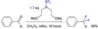 Organofluorine chemistry - bis(2-methoxyethyl)aminosulfur trifluoride reaction