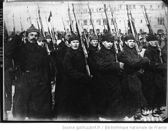 Soviet Armed Forces - A parade Corps of the Red Army in Moscow the year 1922