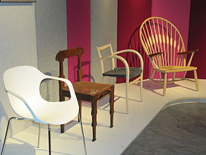 Danish modern - Selection of Danish Modern chairs, Danish Design Museum, Copenhagen