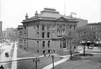 Detroit Public Library - The first library building, constructed in 1872 at Centre Park